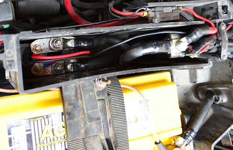 Relay for remote start battery disconnect