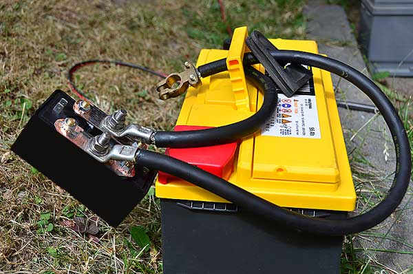 Range rover P38 remote control battery disconnect and the new AGM battery.