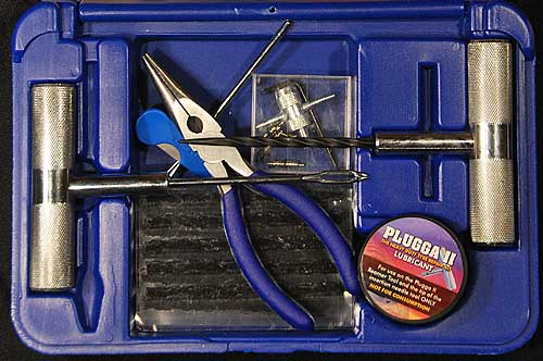 Plugga II Car tire repair kit for large 4x4 car tires