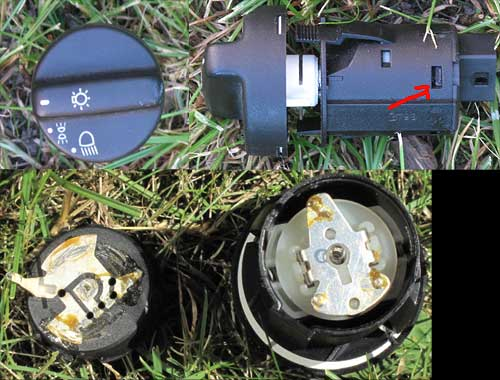 Intermittent function of Range Rover P38 headlight switch