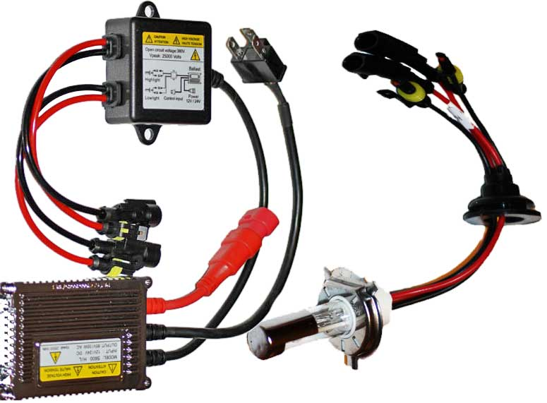 Dual H-4-4 Hid Kit without moving parts