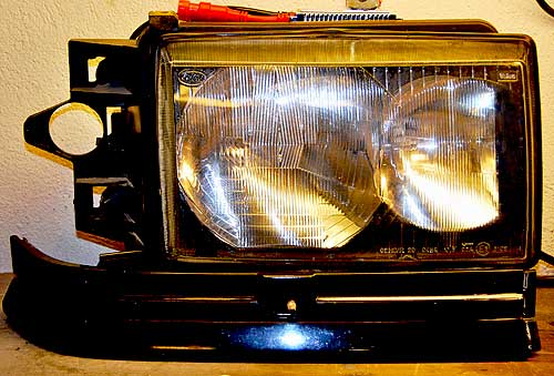 Updated and modified Range Rover P38 headlight unit
