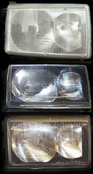 1999 headlights  vs Range Rover P38 2001