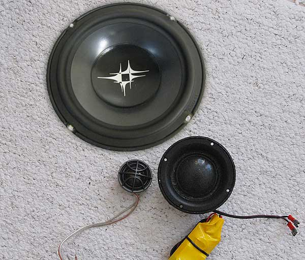 Peerless and DLS car audio speakers