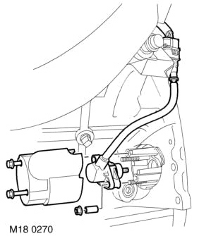 Range Rover P38 Thor engine, Crank angle possition sensor location